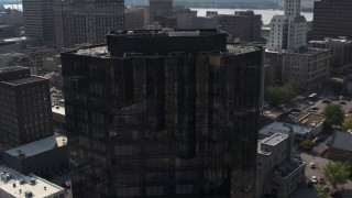 DX0002_184_029 - 5.7K stock footage aerial video of courthouse and office building in Downtown Memphis, Tennessee