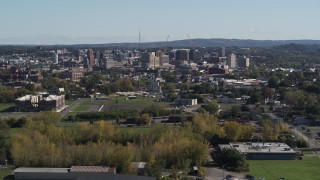 DX0002_211_024 - 5.7K stock footage aerial video of a view of Downtown Syracuse, New York