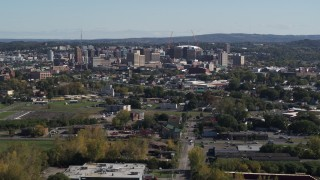 DX0002_211_034 - 5.7K stock footage aerial video of the city's downtown area, Downtown Syracuse, New York