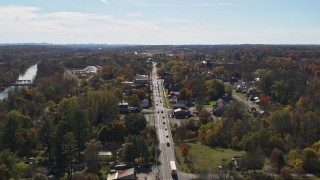 DX0002_216_032 - 5.7K stock footage aerial video orbit George Street in the small town of Fort Ann, New York