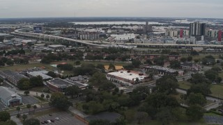 DX0003_231_015 - 5.7K stock footage aerial video of an elementary school while descending, Tampa, Florida
