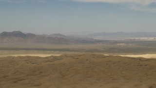 FG0001_000052 - 4K stock footage aerial video of Mojave Desert mountains seen from hills in San Bernardino County, California