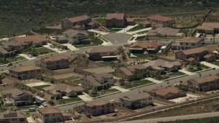 FG0001_000142 - 4K stock footage aerial video of large tract homes in Rancho Cucamonga, California