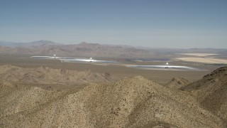 FG0001_000168 - 4K stock footage aerial video of the Ivanpah Solar Electric Generating System in California