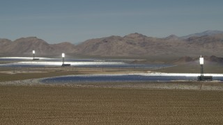 FG0001_000176 - 4K stock footage aerial video of the arrays at the Ivanpah Solar Electric Generating System in California