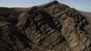 FG0001_000256 - 4K stock footage aerial video flyby rugged desert mountains in the Nevada Desert