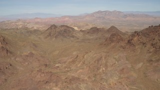 FG0001_000282 - 4K stock footage aerial video flyby rugged, barren mountains in the Nevada Desert