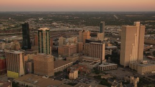 Fort Worth, TX Aerial Stock Footage