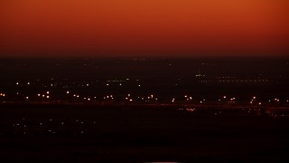 HDA12_019 - 1080 stock footage aerial video of a train yard at sunrise in Fort Worth, Texas