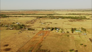 HDA12_074 - 1080 stock footage aerial video of farms and farmhouses in Duncan, Oklahoma