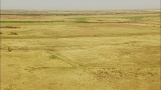 HDA12_088 - 1080 stock footage aerial video of a wide view of farmland, Walters, Oklahoma