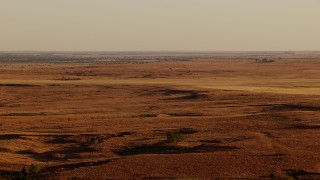 HDA12_131 - 1080 stock footage aerial video of fields and countryside at sunset in Oklahoma