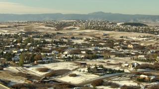 HDA13_277 - HD stock footage aerial video of flying over upscale homes in Castle Pines, Colorado