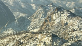 HDA13_297 - HD stock footage aerial video of snow-dusted ridges in the Rocky Mountains, Colorado
