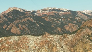 HDA13_298 - HD stock footage aerial video of ridges in the Rocky Mountains, Colorado