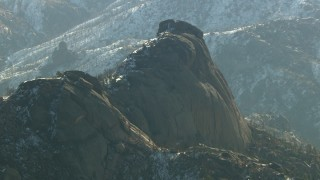 HDA13_299 - HD stock footage aerial video of jagged rock in the Rocky Mountains, Colorado