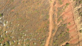 HDA13_381_01 - HD stock footage aerial video of a mountain road in the Rocky Mountains, Colorado