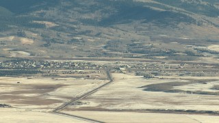 HDA13_460 - HD stock footage aerial video of panning across the town of Fairplay, Colorado