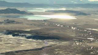 HDA13_464 - HD stock footage aerial video of reservoirs in Park County, Colorado