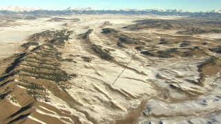 HDA13_467 - HD stock footage aerial video of rippled hills in Park County, Colorado