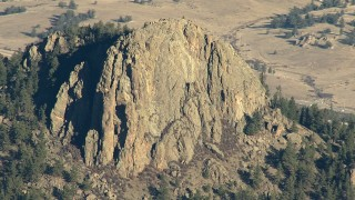 HDA13_471 - HD stock footage aerial video of the stony summit of a peak in the Rocky Mountains, Colorado