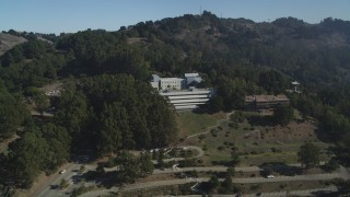 JDC01_012 - 5K stock footage aerial video of hillside research facilities at the University of California Berkeley