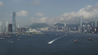 Hong Kong Aerial Stock Footage