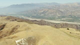 TS01_014 - 1080 stock footage aerial video approach farmland in Piru, California