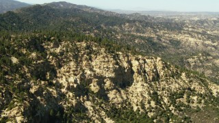 TS01_030 - 1080 stock footage aerial video of of flying over mountains in Los Padres National Forest, California