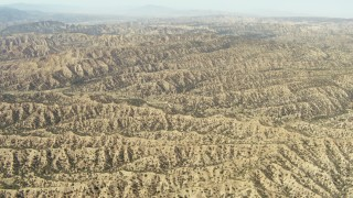 TS01_033 - 1080 stock footage aerial video of ridged mountains, Los Padres National Forest, California