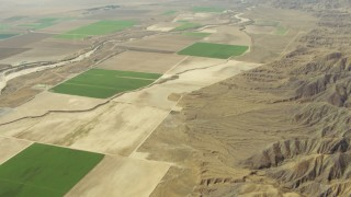 TS01_042 - Aerial stock footage of Cuyama Valley