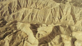 TS01_043 - 1080 stock footage aerial video of flying over the Caliente Mountain Range, California