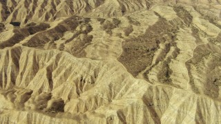TS01_044 - 1080 stock footage aerial video of flying over the Caliente Mountain Range, California