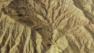 TS01_045 - 1080 stock footage aerial video of flying over barren mountains in the Caliente Mountain Range, California