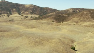 TS01_051 - 1080 stock footage aerial video of foothills and La Panza Range mountains, California
