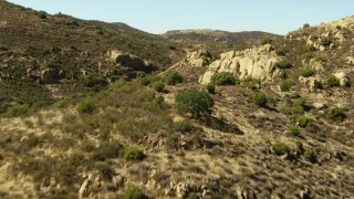 TS01_052 - 1080 stock footage aerial video of flying over the La Panza Range, California