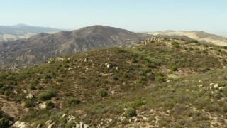 TS01_055 - 1080 stock footage aerial video of flying over mountains, La Panza Range, California