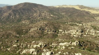 TS01_056 - 1080 stock footage aerial video of flying over rugged mountains, La Panza Range, California
