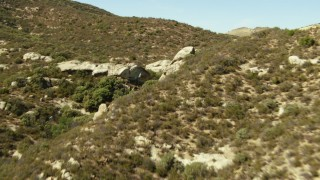 TS01_058 - 1080 stock footage aerial video of flying over the La Panza Range, California