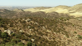 TS01_059 - 1080 stock footage aerial video of flying over a ridge in the La Panza Range, California