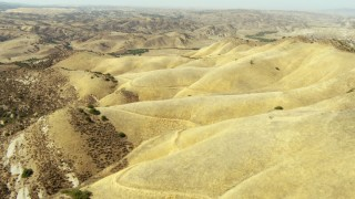 TS01_061 - 1080 aerial stock footage video of flying over the foothills of the La Panza Range, California