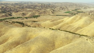TS01_062 - 1080 stock footage aerial video of La Panza Range foothills, California