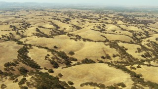 TS01_075 - 1080 stock footage aerial video of rolling hills in Paso Robles, California