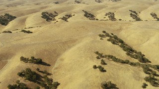 TS01_089 - 1080 stock footage aerial video of rolling hills in Paso Robles, California