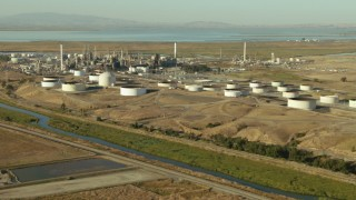 TS01_146 - 1080 stock footage aerial video of the Tesoro refinery in Pacheco, California