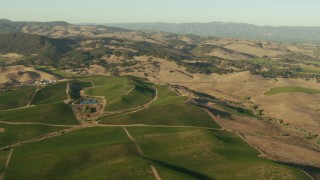 TS01_170 - 1080 stock footage aerial video of farms, homes, and hills in Sonoma, California