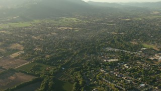 TS01_176 - 1080 stock footage aerial video of rural neighborhoods, Sonoma, California