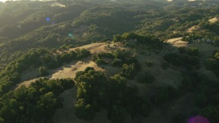 TS01_182 - 1080 stock footage aerial video of upscale homes and forest in the Sonoma Mountains, California