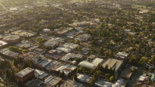 TS01_199 - 1080 stock footage aerial video of office buildings and neighborhoods in Santa Rosa, California