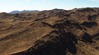 TS02_01 - 1080 stock footage aerial video of flying over the Muddy Mountains, Valley of Fire, Nevada